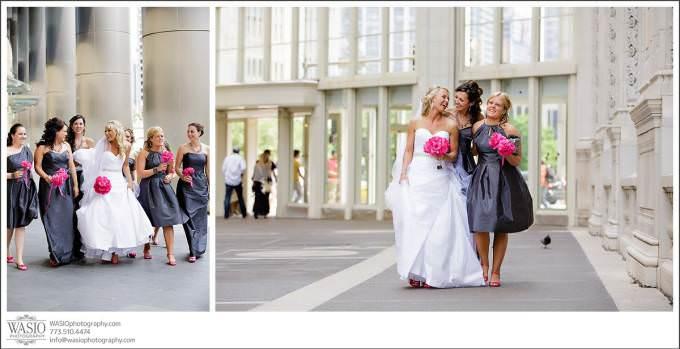 Chicago-Wedding-Wrigley-Building-river-walk-680x349 Shedd Aquarium Wedding & Grant Park's Tiffany Garden - Julie & Caleb