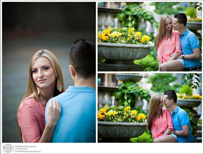 Chicago-Wedding-beautiful-engagement-romantic-couple-680x513 Art Institute Gardens Engagement - Natalia & Michal