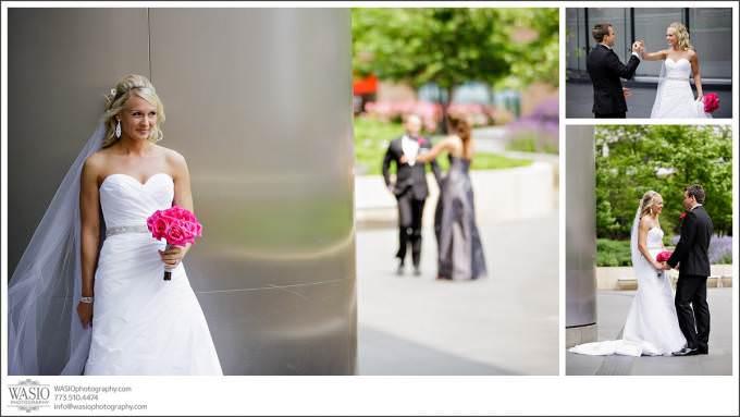 Chicago-Wedding-first-look-trump-tower_042-680x383 Shedd Aquarium Wedding & Grant Park's Tiffany Garden - Julie & Caleb