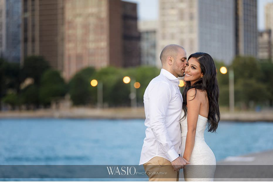 Chicago-beach-london-house-engagement-North-Avenue-romantic-photos-couple-engaged-holding-hands-kissing-Chicago-Skyline-75 Chicago Beach & London House Engagement - Donna + Sharbel