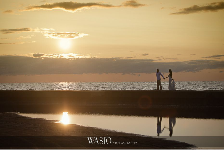 Chicago-beach-london-house-engagement-silhouette-sunrise-cotton-candy-sky-romantic-love-photography-78 Chicago Beach & London House Engagement - Donna + Sharbel