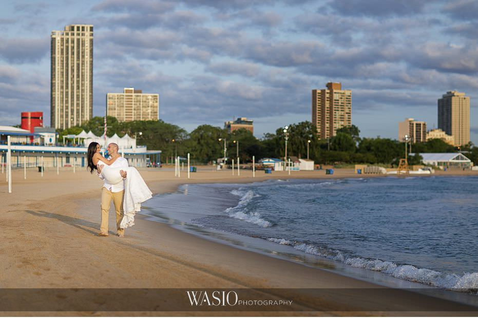 Chicago-beach-london-house-engagement-walking-along-beach-love-engaged-photo-idea-81 Chicago Beach & London House Engagement - Donna + Sharbel