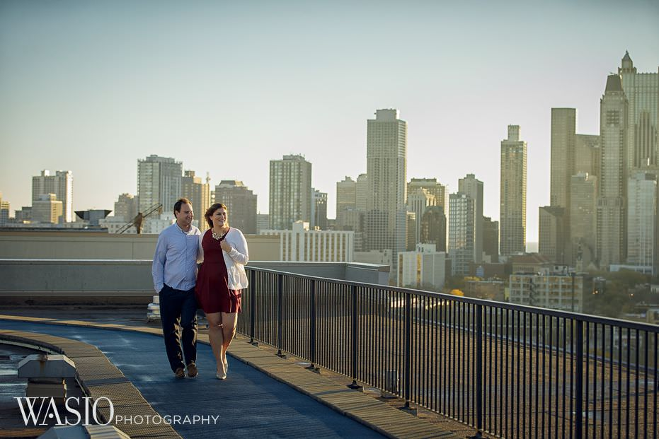 Chicago-engagement-Lincoln-Park-rooftop-unqiue-city-view-skyline-windy-18 Chicago Engagement - Allie + John