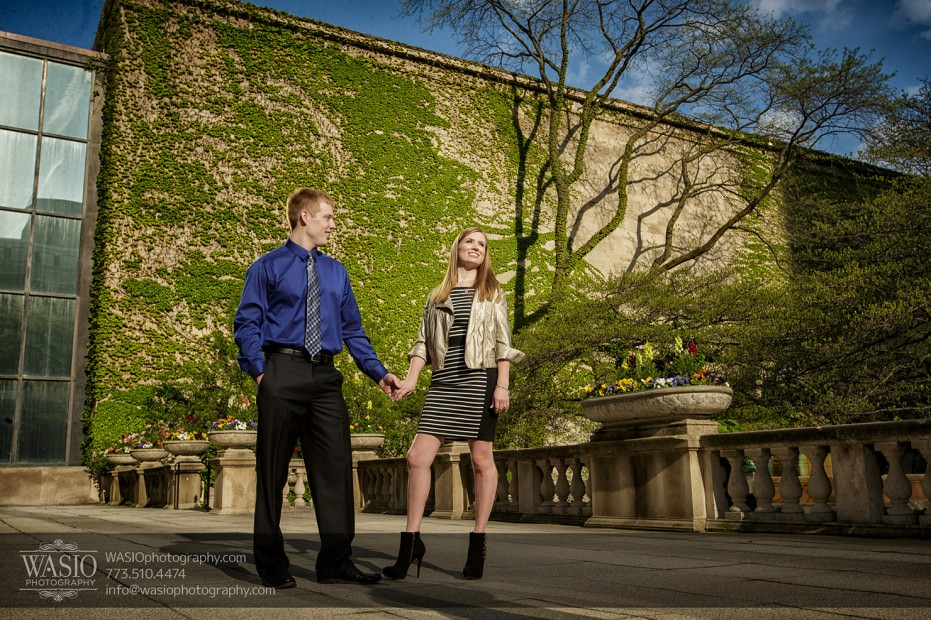 Chicago-engagement-photography-059-downtown-trees-flowers-dress-up-931x620 Chicago engagement photography session - Lauren + Matt