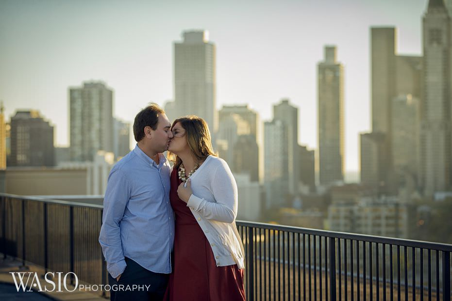 Chicago-engagement-photography-Lincoln-Park-city-skyline-romantic-kiss-19 Chicago Engagement - Allie + John