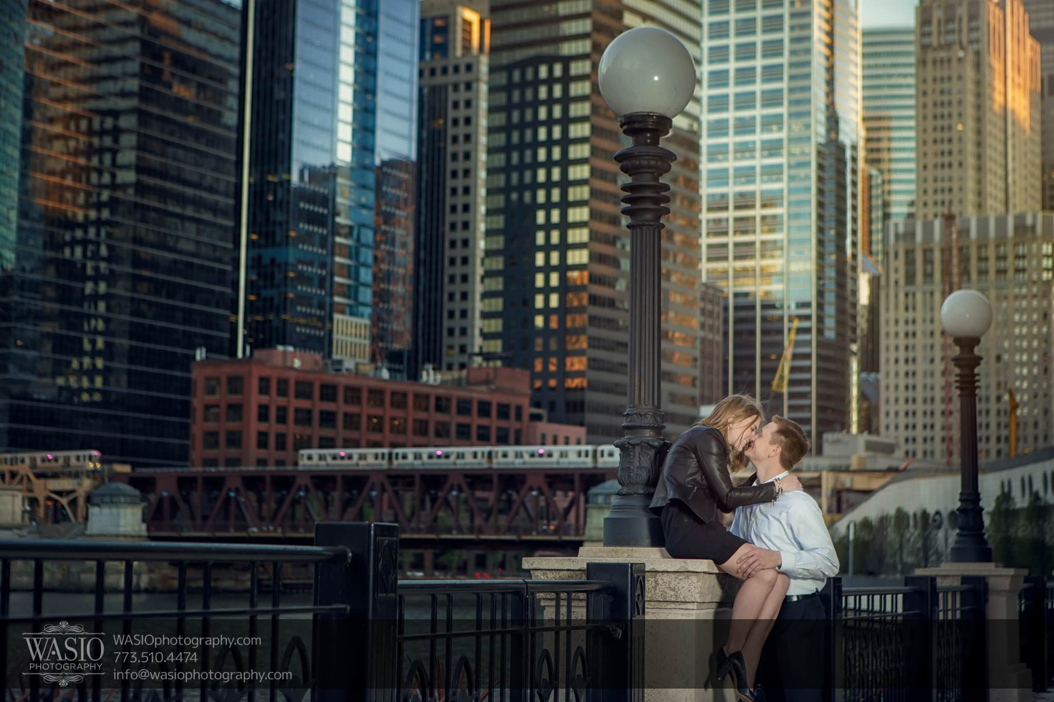 Chicago engagement photography – Jennifer + Steve
