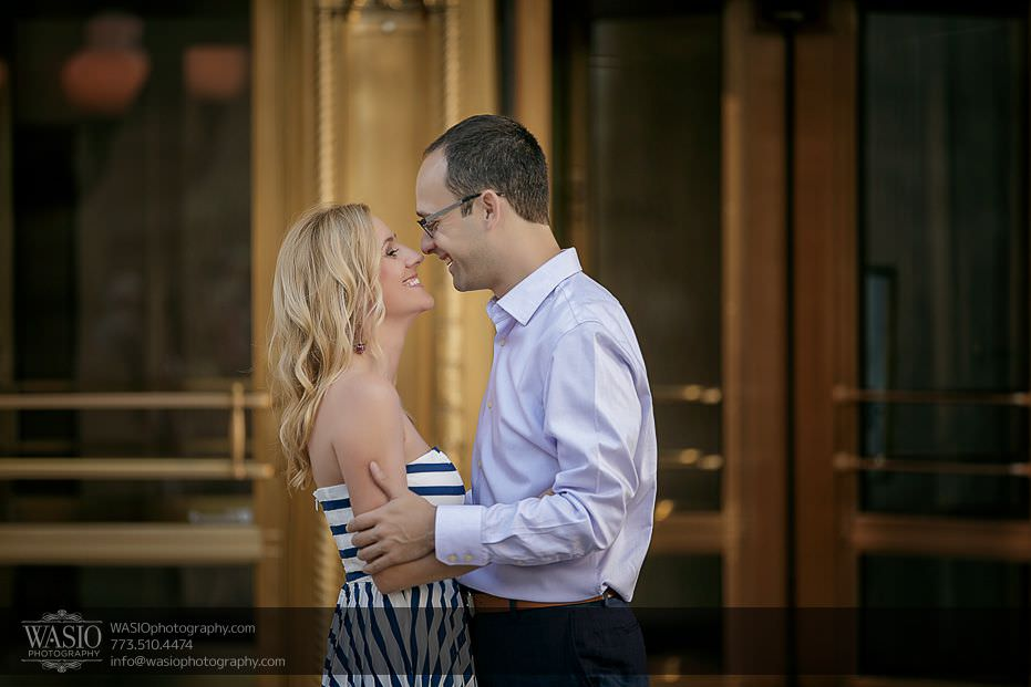 Chicago-engagement-photography-photo-journalistic-moment-unique-gold-doors-passion-celebrity-kiss-26 Chicago Engagement Photography - Kate + Sami