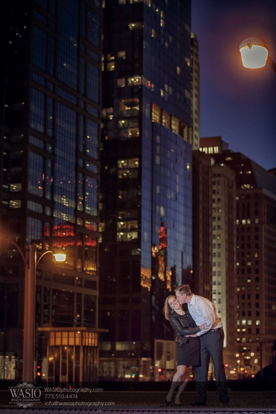 Chicago-engagement-photography-sunset-kiss-on-cheek_98-931x1396 Chicago engagement photography - Jennifer + Steve