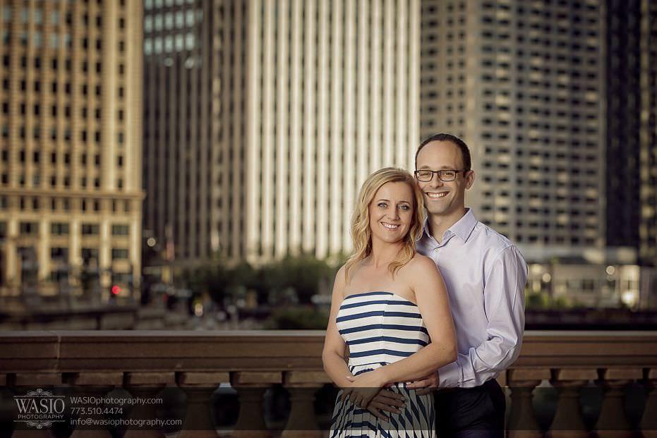 Chicago-engagement-photography-wrigley-building-skyline-classic-photo-happy-hug-25 Chicago Engagement Photography - Kate + Sami