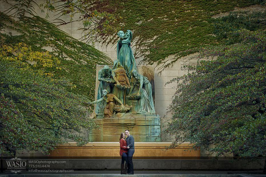 Chicago-engagement-photos-art-institute-downtown-1 Chicago Engagement Photos - Alina + Mike