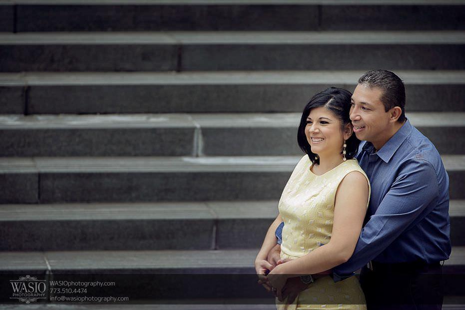 Chicago-engagement-photos-happy-fun-moment-engaged-Trump-Tower-smiling-157 Chicago Engagement Photos - Claudia + Javier