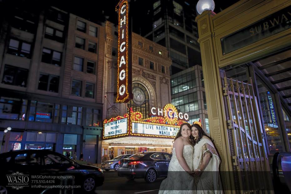 Chicago-same-sex-wedding-downtown-portrait-theater-district_51-931x620 Chicago same sex wedding - Katherine + Mitali