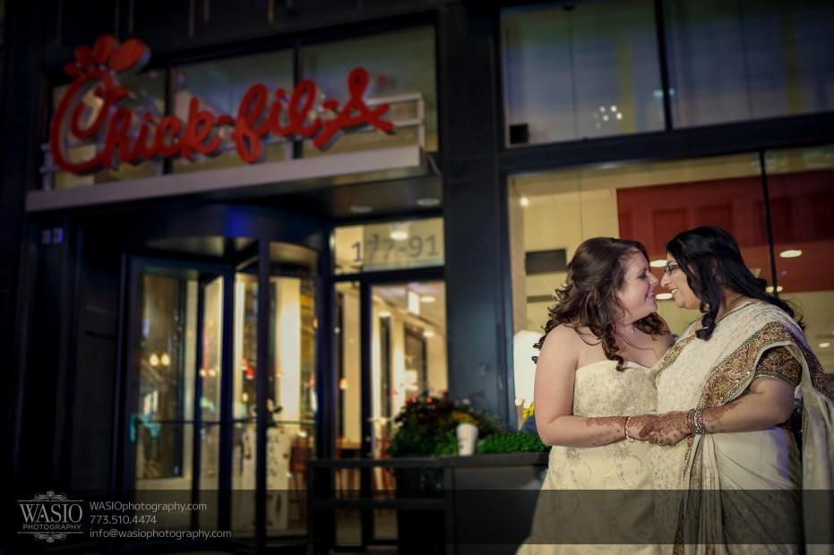 Chicago-same-sex-wedding-kiss-chick-fila_50-931x620 Chicago same sex wedding - Katherine + Mitali