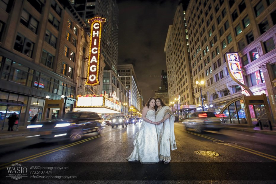 Chicago-same-sex-wedding-middle-road-cars-night-intimate_52-931x620 Chicago same sex wedding - Katherine + Mitali