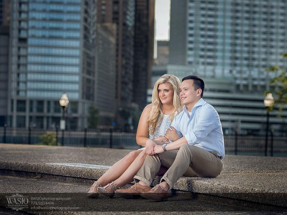 Chicago-summer-engagement-passion-sitting-sunset-romance-fun-couple-engaged-3 Chicago Summer Engagement - Lindsey + Edward