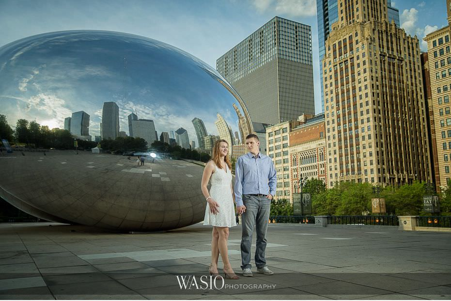 Chicago-summer-engagement-photos-sunrise-Millennium-Park-The-Bean-2 3 Tips For Your Chicago Summer Engagement Photos - Kate & Igor