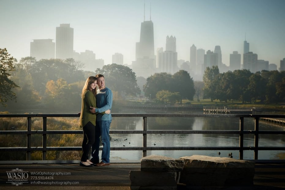 Chicago-sunrise-engagement-fog-skyline-love-0058-931x620 Chicago Sunrise Engagement - Dana & Nolan