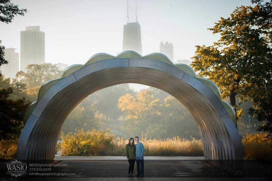 Chicago-sunrise-engagement-honeycomb-lincoln-park-skyline-view-0057-931x620 Chicago Sunrise Engagement - Dana & Nolan