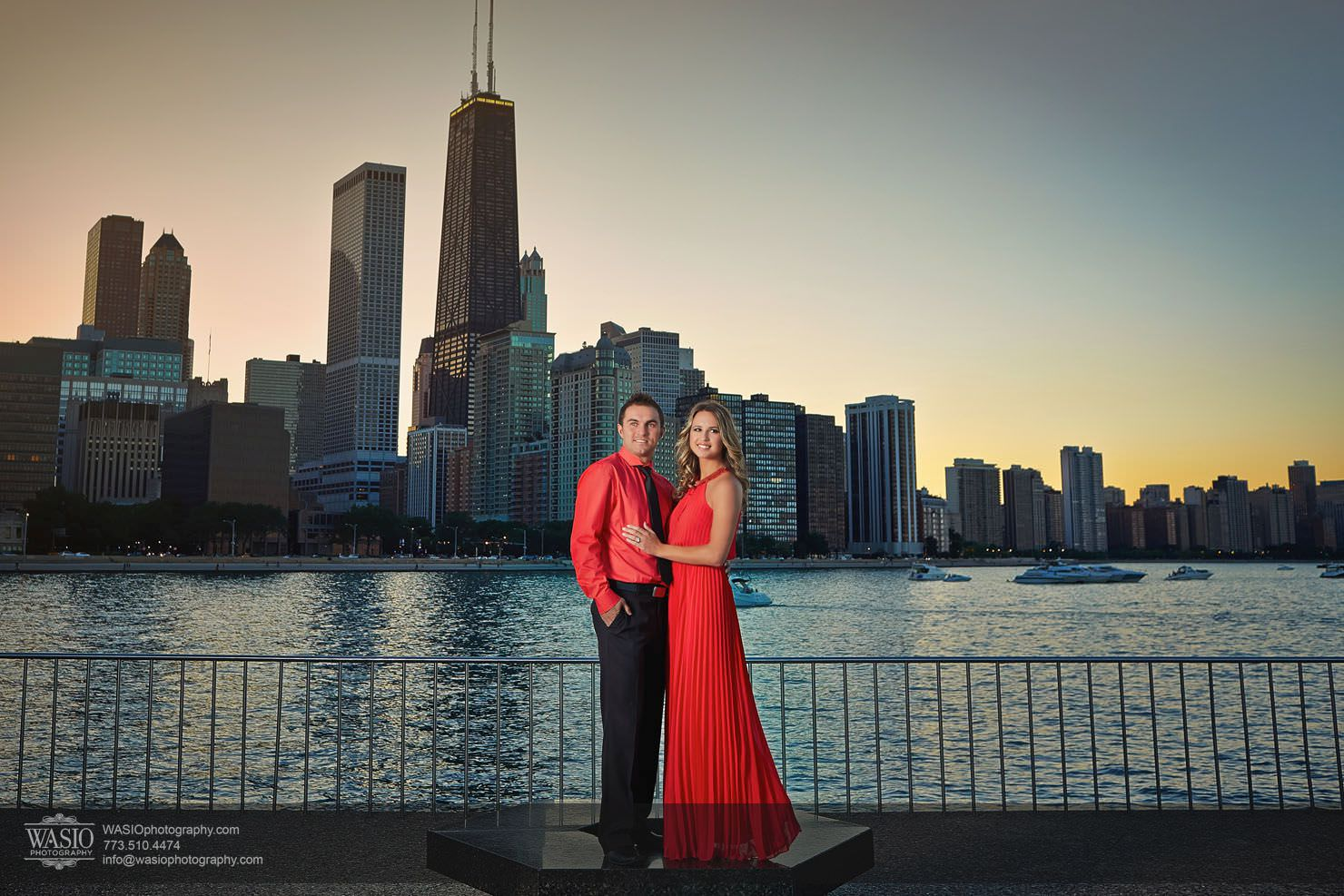 Chicago-sunset-engagement-downtown-navy-pier_0O3A9012 Chicago Sunset Engagement - Angelica & Pawel