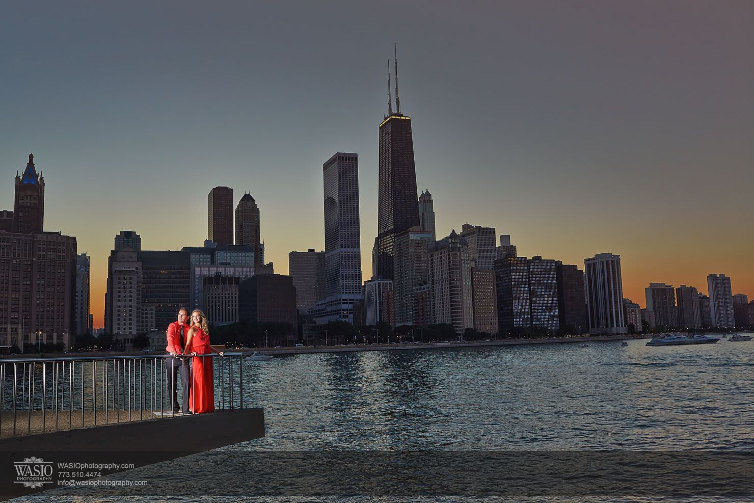 Chicago-sunset-engagement-downtown-navy-pier_0O3A9051 Chicago Sunset Engagement - Angelica & Pawel
