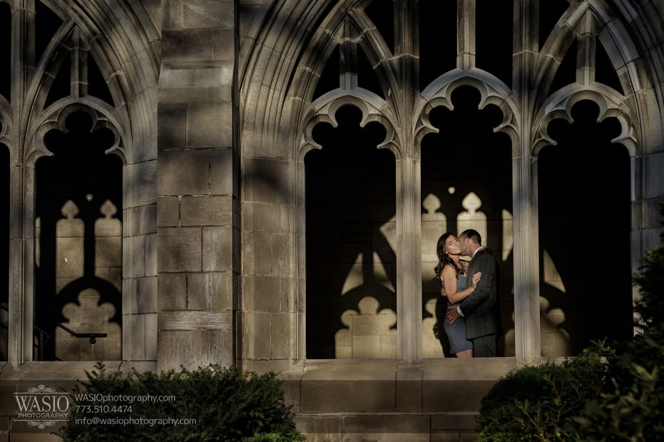 Chicago-wedding-engagement-photography-029-university-of-chicago-dramatic-shadow-artistic-931x620 Chicago Sunset Engagement - Lauren+Gianni