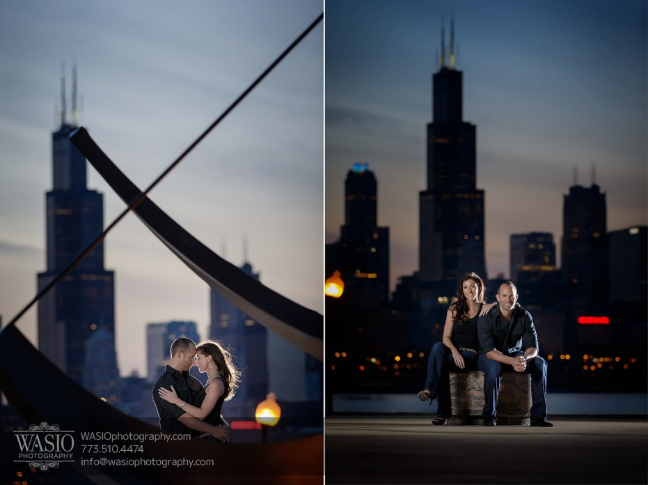 Chicago-wedding-engagement-photography-034-sunset-downtown-skyline-931x696 Chicago Sunset Engagement - Lauren+Gianni