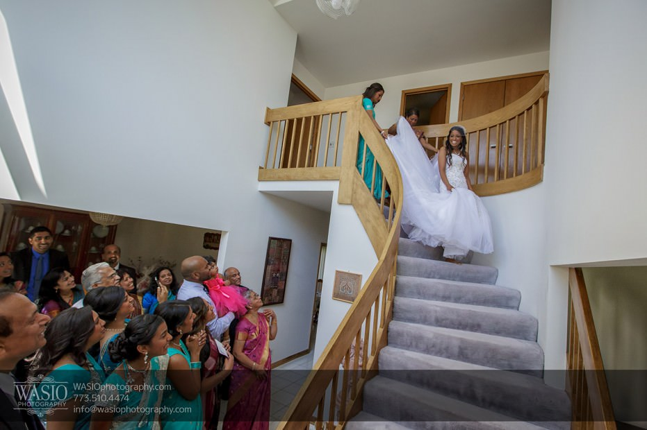 Chicago-wedding-photograper-Indian-first-look-family-happy-stairs-011-931x620 Chicago Indian Wedding  - Cheryl + Brian