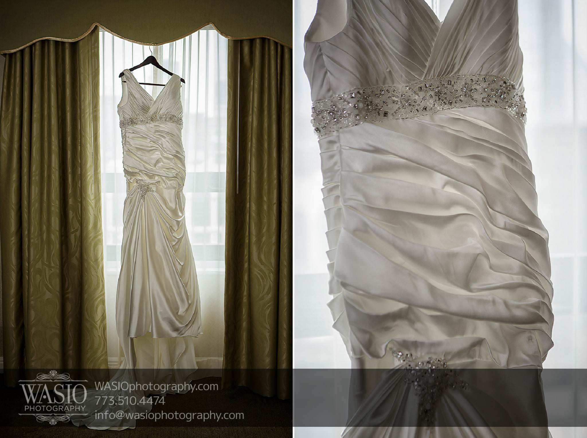 Chicago-wedding-photos-Palmer-House-wedding-dress-mermaid-white-crystals-halter-033 Chicago Wedding Photos - Svetlana + Yuriy