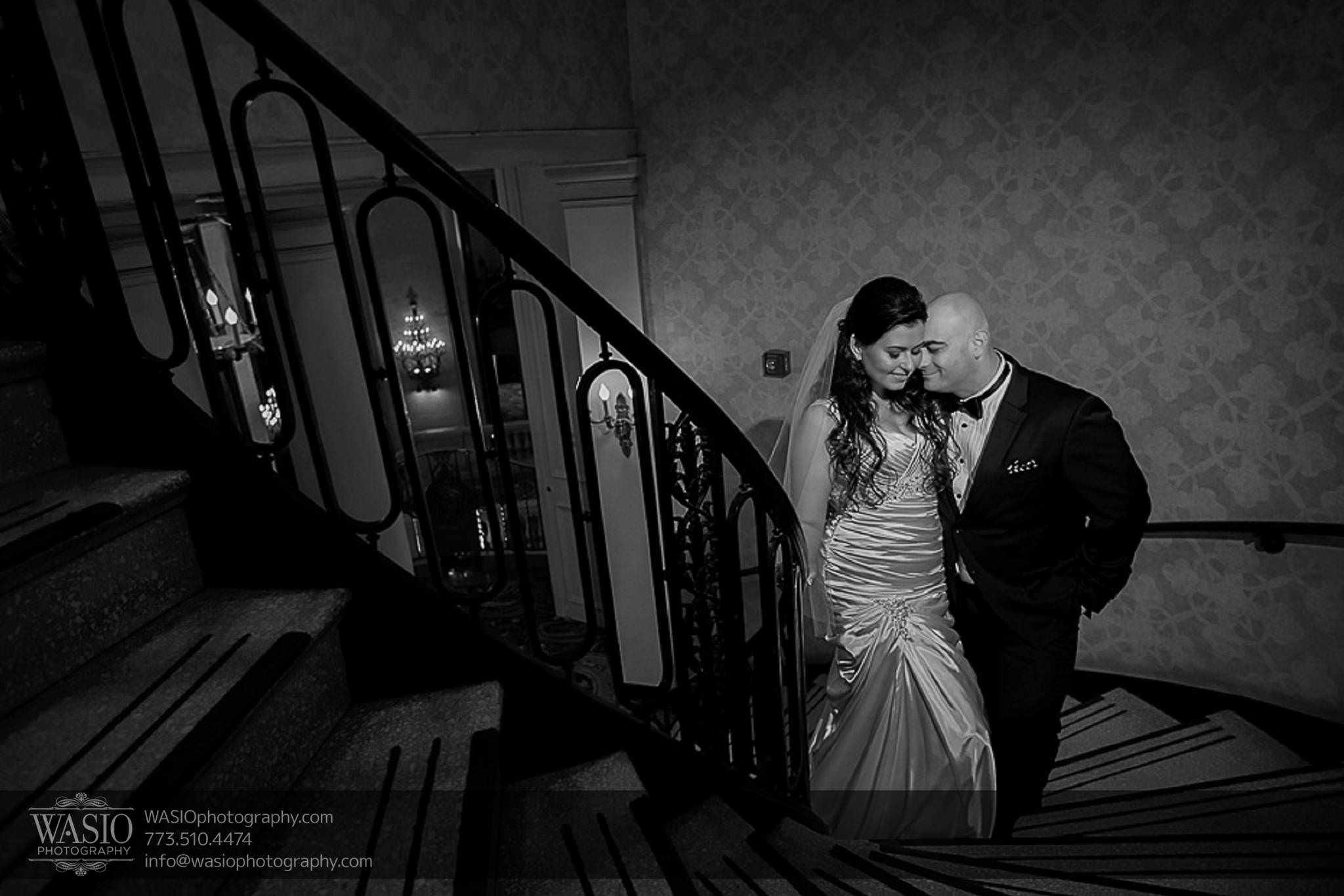 Chicago-wedding-photos-stairwell-black-white-053 Chicago Wedding Photos - Svetlana + Yuriy