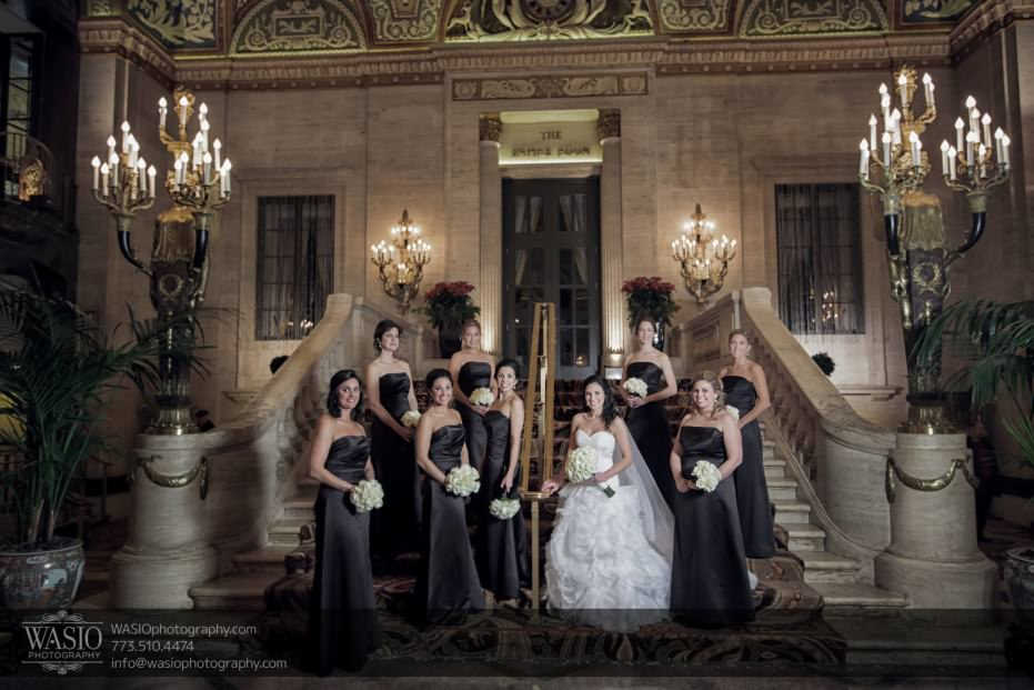 Chicago-winter-wedding-Palmer-house-bridal-party_95-931x621 Chicago Winter Wedding - Elizabeth + Paul