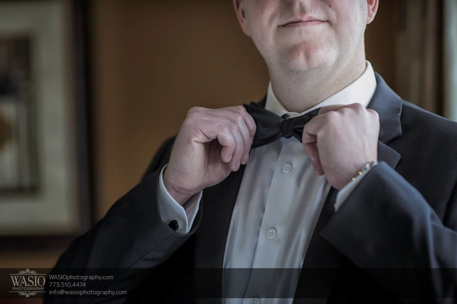 Chicago-winter-wedding-groom-getting-ready-bow-tie-rolex_02-931x621 Chicago Winter Wedding - Elizabeth + Paul
