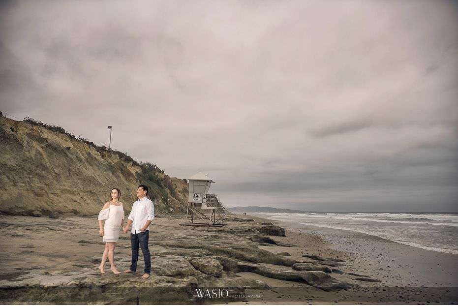 Del-Mar-Engagement-Photography-dramatic-beach-landscape-26 Del Mar Engagement - Yu and Mariana