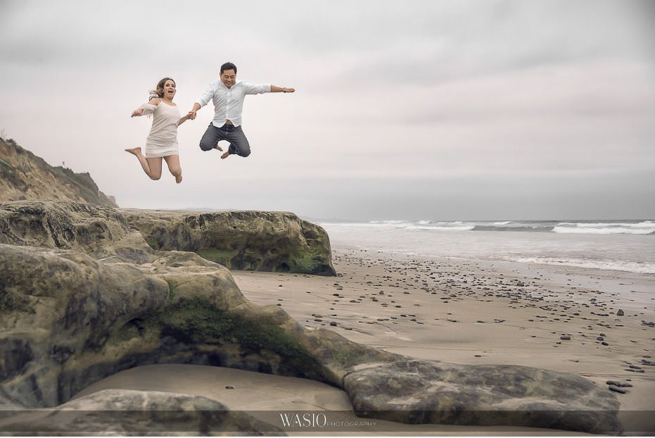 Del-Mar-Engagement-Photography-fun-beach-landscape-jumping-27 Del Mar Engagement - Yu and Mariana