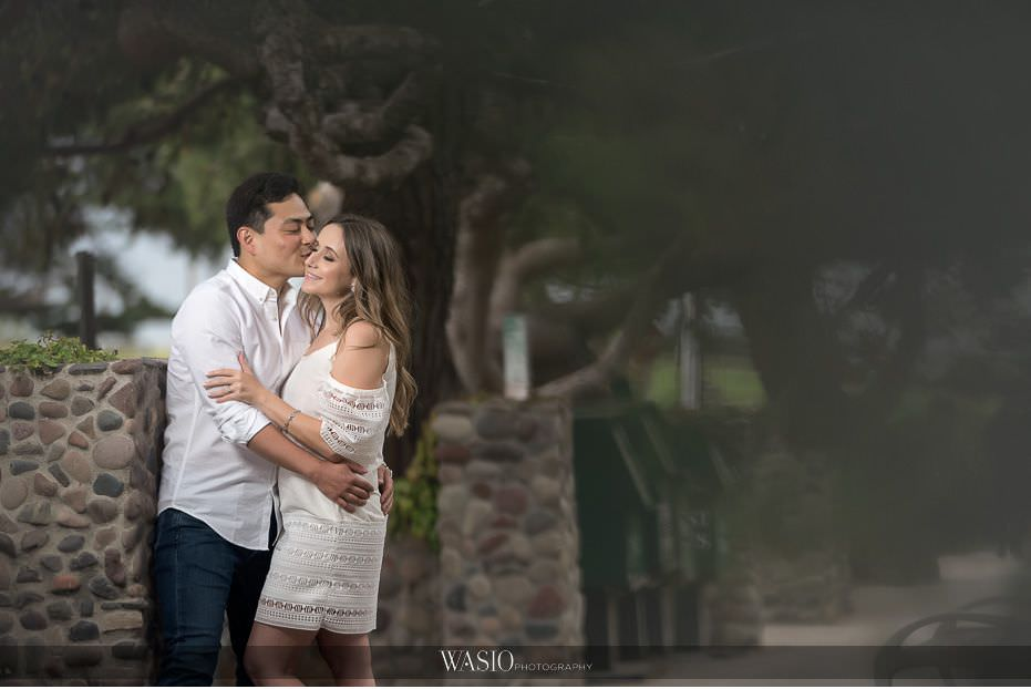 Del-Mar-Engagement-Photography-romantic-kiss-under-the-tree-22 Del Mar Engagement - Yu and Mariana