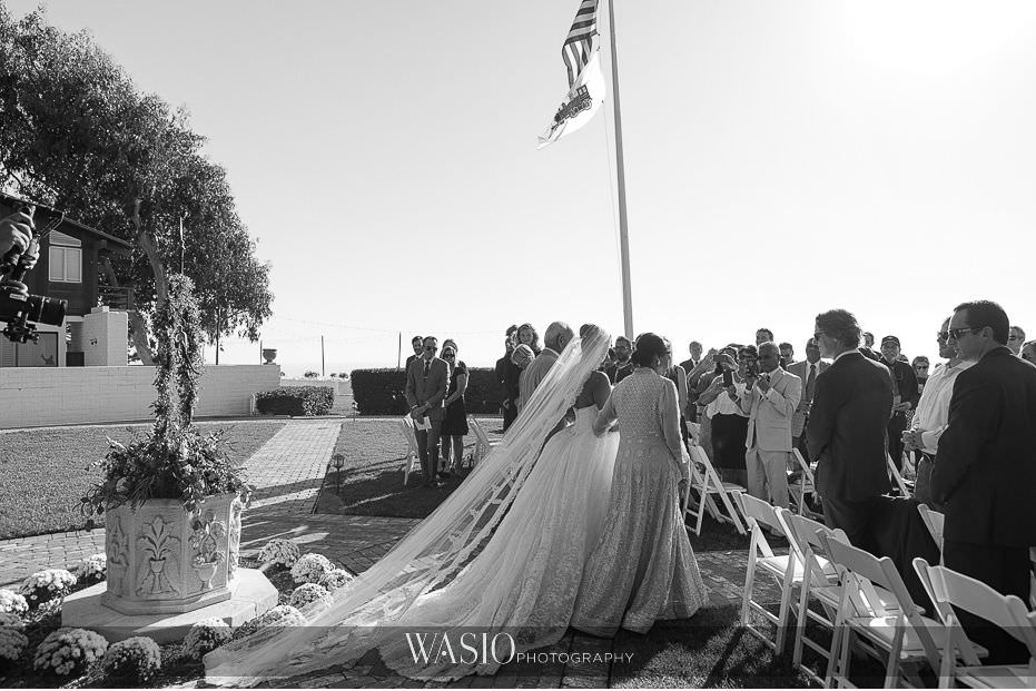 Del-Mar-Wedding-black-white-ceremony-photo-journalistic-30 Del Mar Wedding By The Ocean - Shanie and James