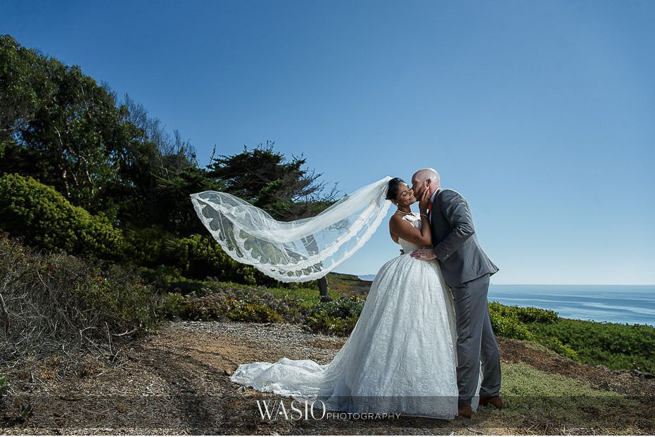 Del-Mar-Wedding-bride-groom-portraot-ocean-view-long-veil-romantic-portrait-27 Del Mar Wedding By The Ocean - Shanie and James