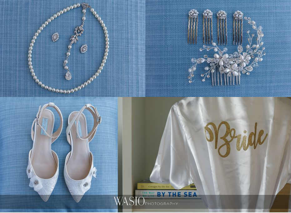 Del-Mar-Wedding-bride-preparation-wedding-details-custom-pearls-betsy-johnson-shoes-something-blue-00 Del Mar Wedding By The Ocean - Shanie and James