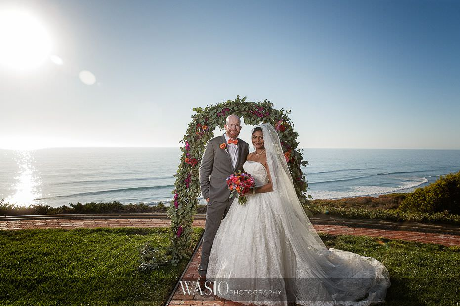 Del-Mar-Wedding-ceremony-bride-groom-portrait-blue-sky-17 Del Mar Wedding By The Ocean - Shanie and James
