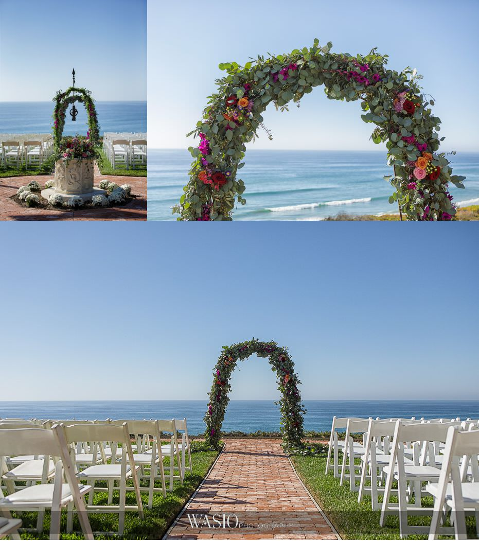 Del-Mar-Wedding-ceremony-detail-whimsey-florals-custom-decoration-04 Del Mar Wedding By The Ocean - Shanie and James