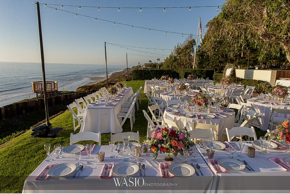 Del-Mar-Wedding-outdoor-reception-market-lights-whimsey-floral-cliff-views-19 Del Mar Wedding By The Ocean - Shanie and James