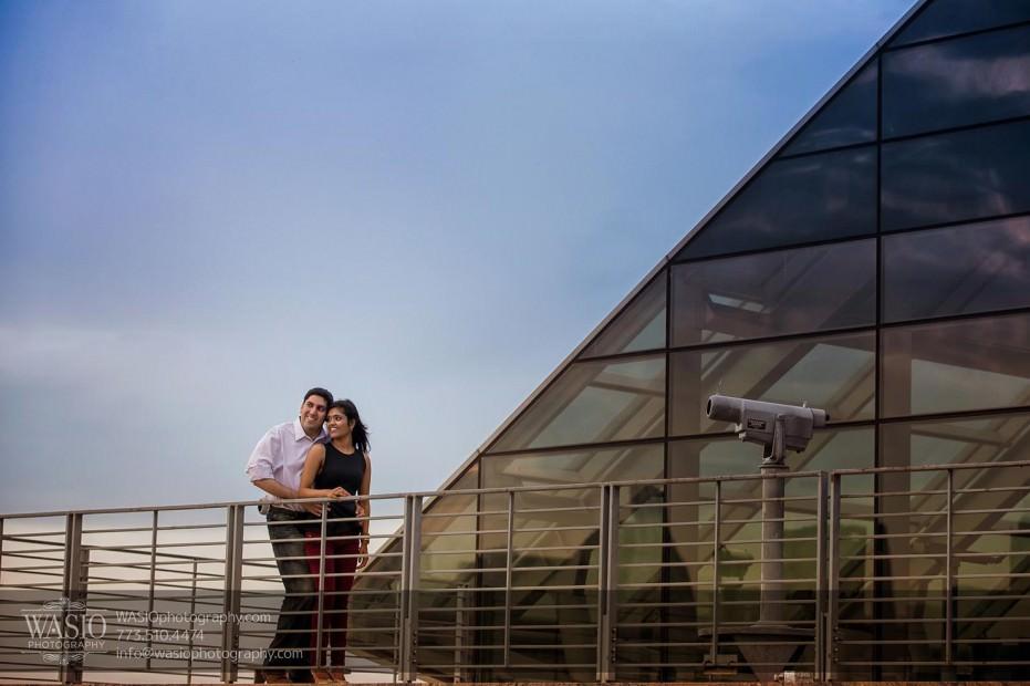 Destination-Chicago-Wedding-Engagement-Photos-WASIO-photography-0112-Adler-Planetarium-931x620 A Chicago Engagement Session with Shreya+Monil