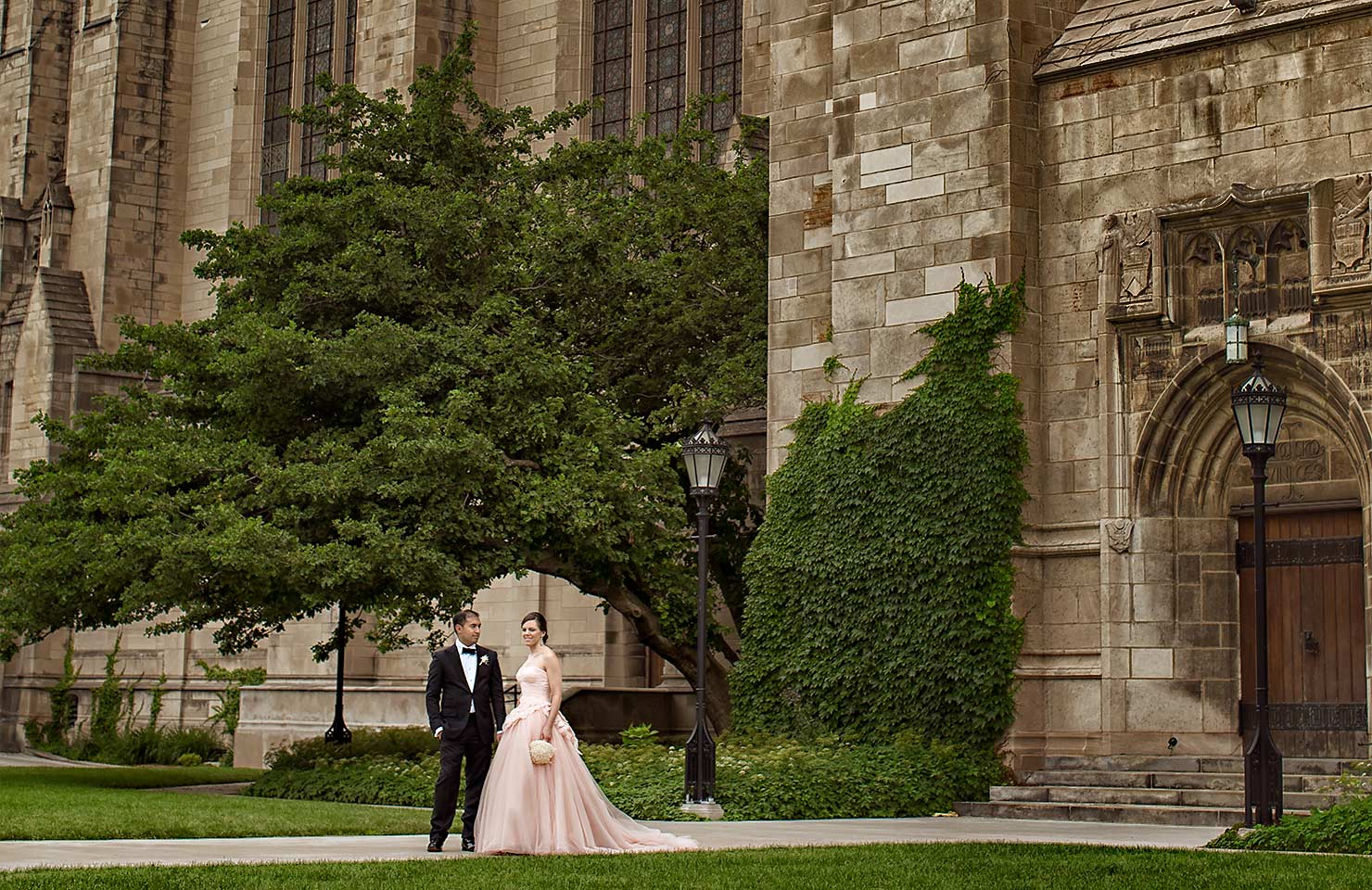 Chicago Wedding Photography at University of Chicago by Rockefeller Chappel