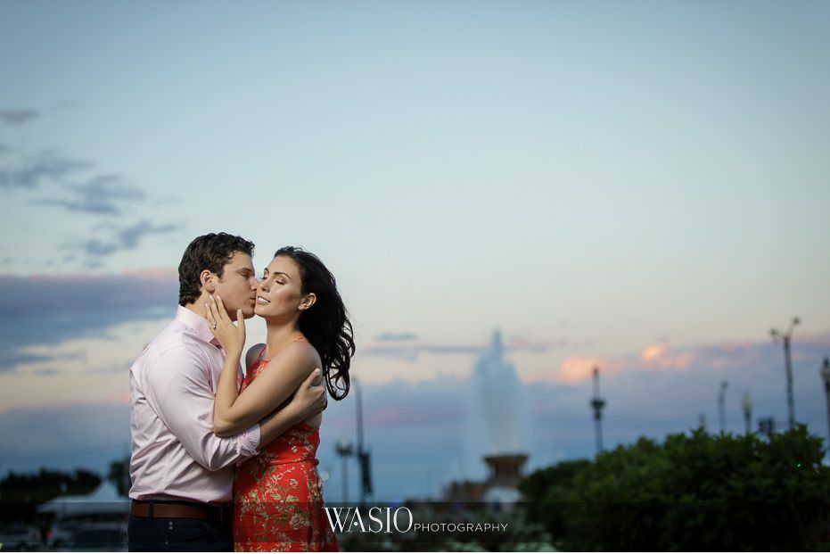 Engagement-Session-historic-landmark-buckingham-fountain-61 Winner of The Knot 2018 Best of Weddings - WASIO photography