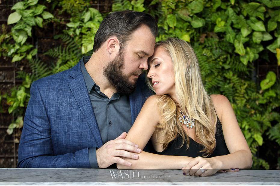 Gaslamp-Quarter-Engagement-Photos-fair-weather-green-suculent-wall-portrait-intimate-love-33 Gaslamp Quarter Engagement Photos - Carrie and Josh