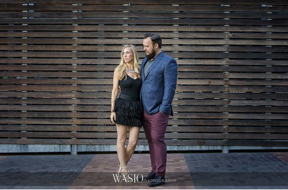 Gaslamp-Quarter-Engagement-Photos-feather-skirt-fun-moment-outdoor-portrait-41 Gaslamp Quarter Engagement Photos - Carrie and Josh