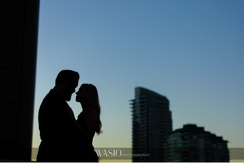 Gaslamp-Quarter-Engagement-Photos-silhouette-sunset-skyline-photography-49 Gaslamp Quarter Engagement Photos - Carrie and Josh