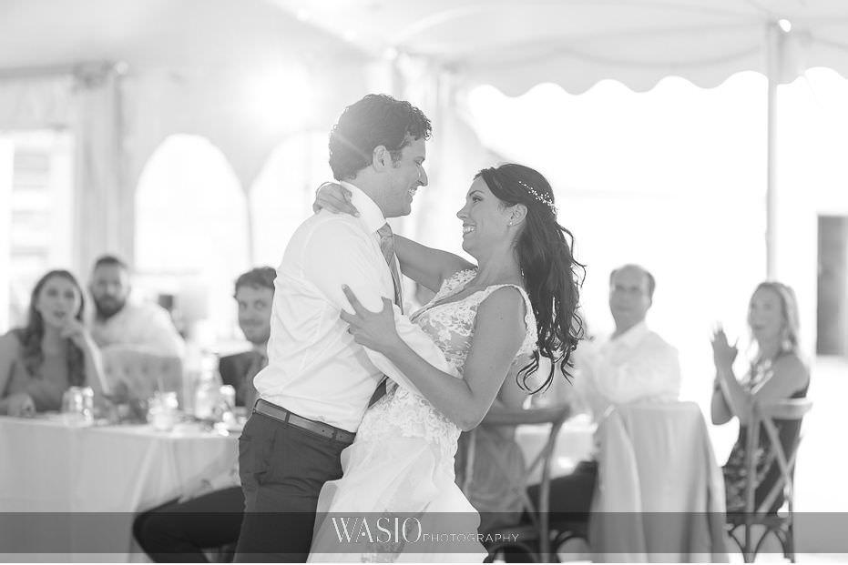 Heritage-Prairie-Farm-Wedding-black-white-photo-journalism-first-dance-bride-groom-67 Heritage Prairie Farm Wedding