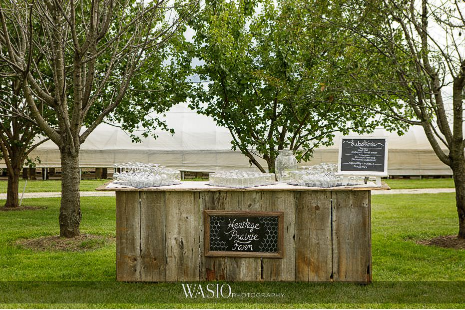 Heritage-Prairie-Farm-Wedding-cocktail-stand-rustic-outdoor-specialty-cocktails-02 Heritage Prairie Farm Wedding