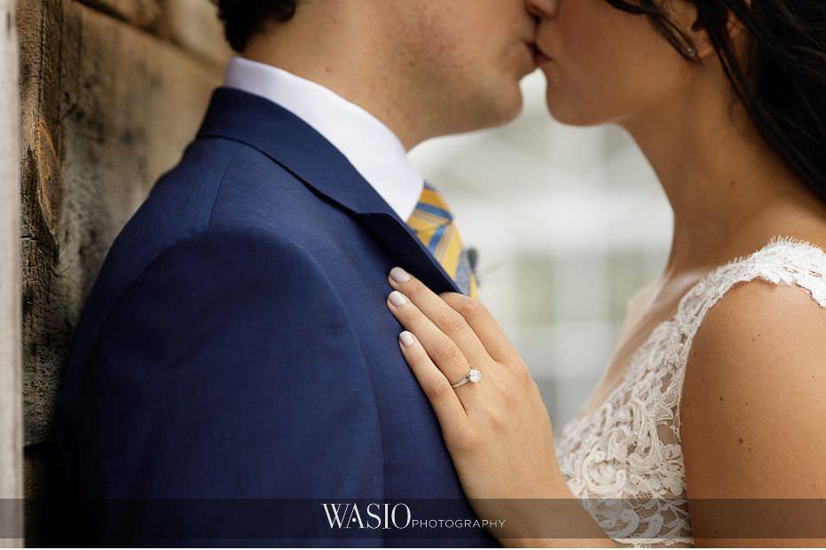 Heritage-Prairie-Farm-Wedding-diamond-ring-detail-romantic-kiss-lace-wedding-dress-85 Heritage Prairie Farm Wedding