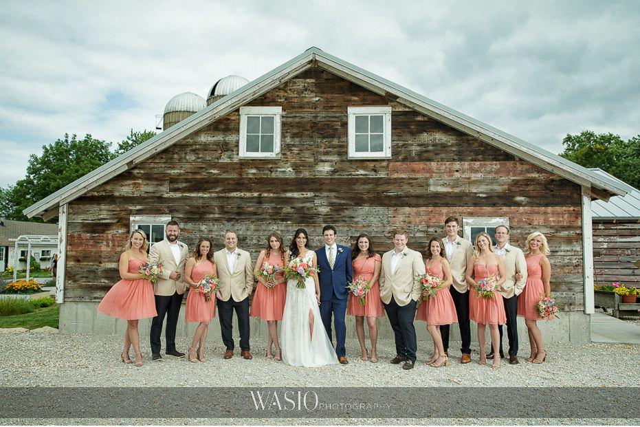 Heritage-Prairie-Farm-Wedding-epic-wedding-party-photo-bridesmaids-groomsmen-outdoor-summer-wedding-89 Heritage Prairie Farm Wedding